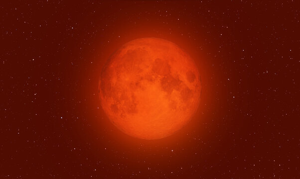"Blood Moon with lunar eclipse  ""Elements of this image furnished by NASA """