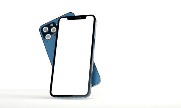 modern mobile smartphone digital 3d isolated