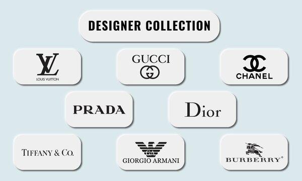 Vector illustration of popular luxury Designer Collection. Neumorphism style.