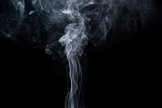 Close-Up Smoke over black background for overlay design