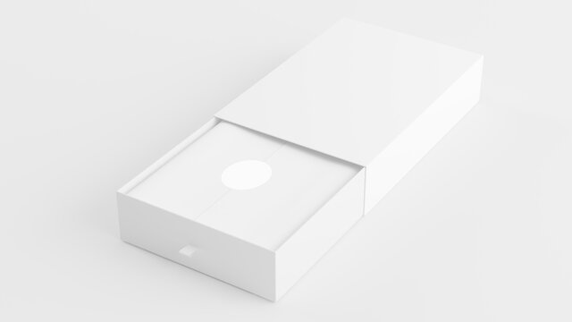 White open box mock up