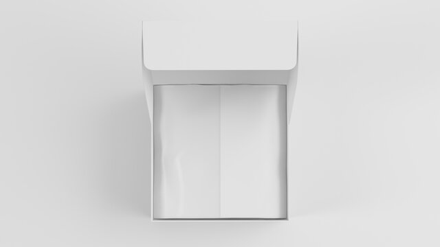 open mailing  box mock up