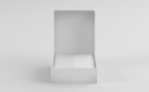 white mailing box 3d rendering mock up