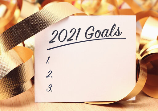 Goals 2021 with beautiful decoration.
