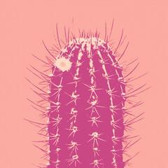 Pop art Cactus. Minimal fashion poster. Trendy bright colorful cartoon design. Neon tropical cactus Mood, popart pattern. Retro 80s concept, creative style
