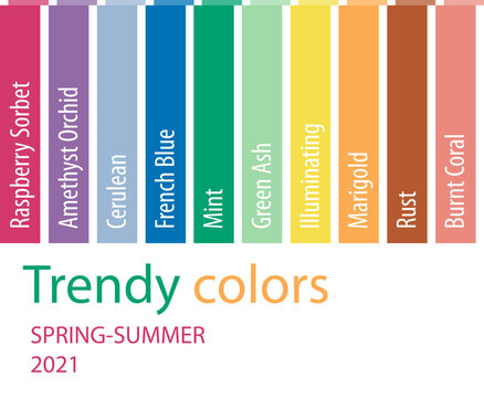 Trendy colors 2021