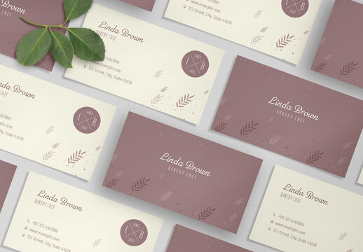Bakery Business Card Layout