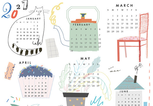Creative Wall Calendar 2021