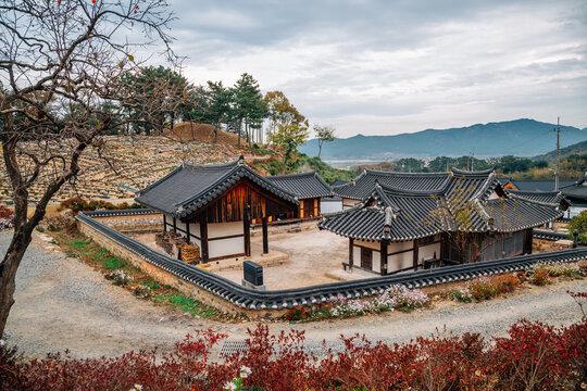 Seoak-dong old village at autumn in Gyeongju, Korea