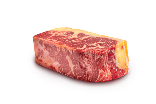 Sirloin or striploin steak  beef loaf slice