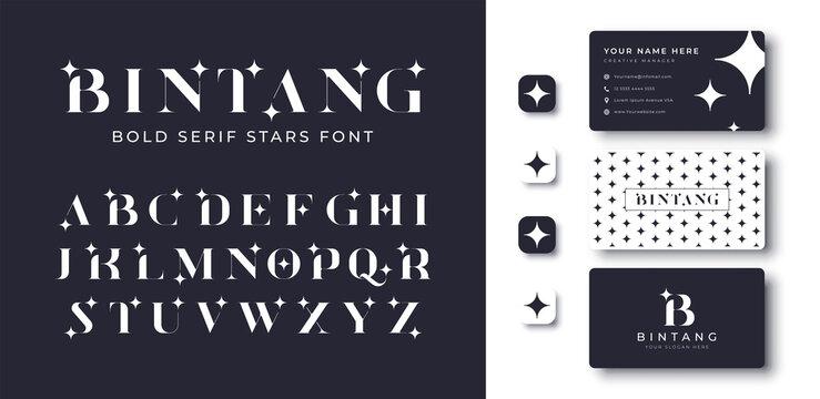 modern bold serif star font
