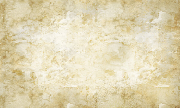 Old paper texture background.Aged worn out light brown beige white blank parchment. Ancient antique rustic grungy retro manuscript scroll template watercolor fresco paper.Marble