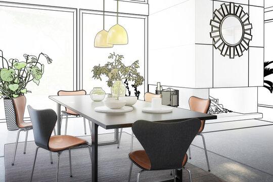 Luxury Villa Interior Design (planning) - 3d visualization