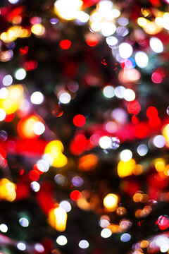Background of Xmas tree with lights