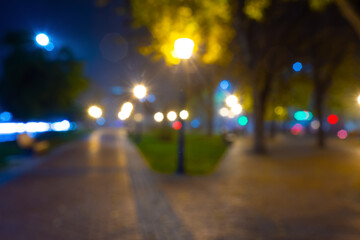 Blurred cityscape view, abstrac city background Fotomurales