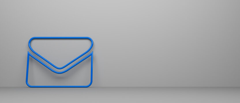 abstract contact icon in front of background - 3D Illustration