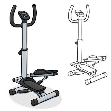 Vector stair stepper machine illustration