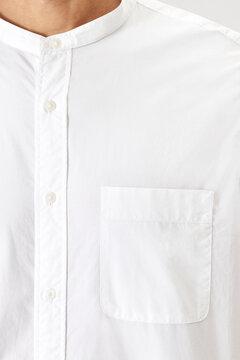 Man in a white shirt pocket mockup
