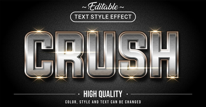 Editable text style effect - Crush with rusty steel text style theme.
