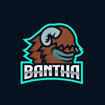 Bantha StarWars e-sport team logo design