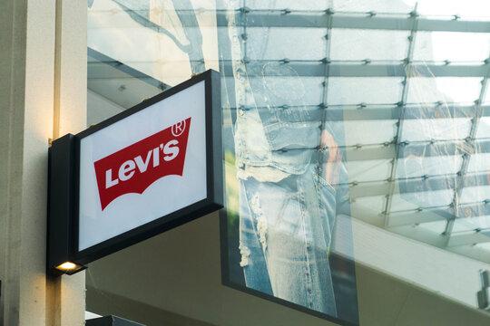 Tilburg, Netherlands - 09.05 2019: Levi's store signboard, illustrative editorial photo