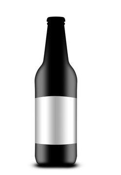 dark bottle with beer