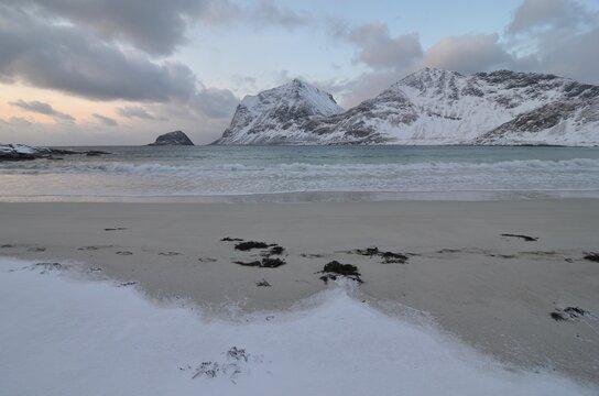 Lofoten islands in the winter, Norway