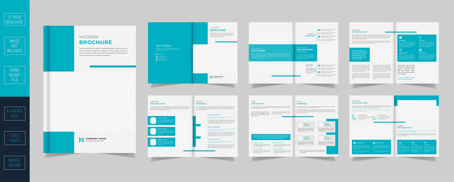 Modern Brochure template layout design with annual report minimal Proposal brochure layout.