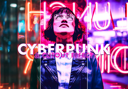 Cyberpunk and Cutout Effect