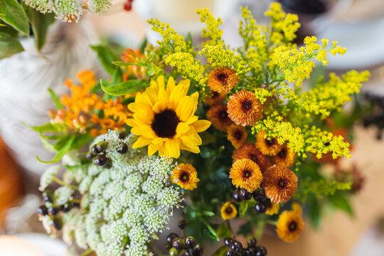 Blumenstrauss mit Sonnenblume