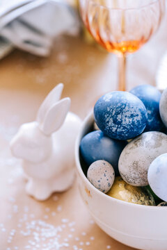 Easter decorated dessert table.