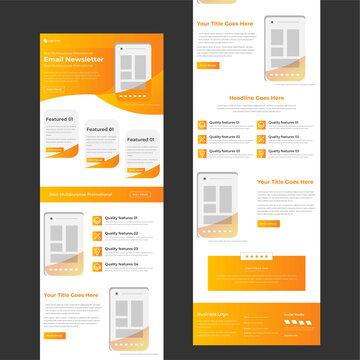 professional Mailchimp email template newsletter
