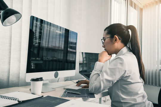 Asian female software developers are stressed in analyzing code-based systems.