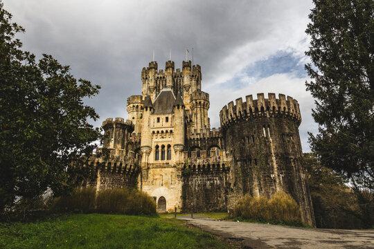 Butrón castle in Gatica, Basque Country in Spain