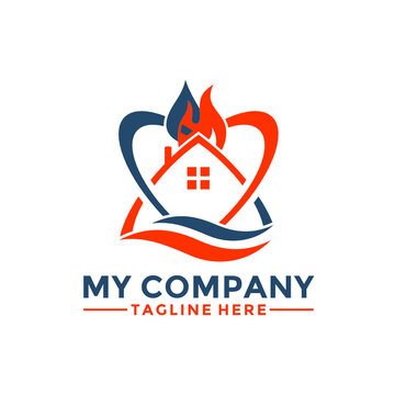 Modern Home House Restoration and Renovation Service Logo Design Vector, Property restoration logo, remodeling or painting logo design
