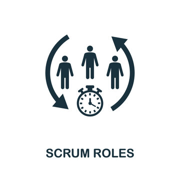 Scrum Roles icon. Simple element from agile method collection. Filled Scrum Roles icon for templates, infographics and more
