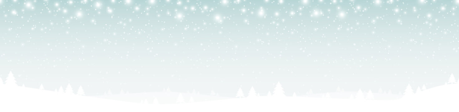 seamless xmas background with snow fall and trees