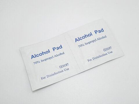 Alcohol pad in Quezon City, Philippines