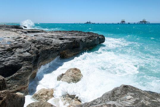 Grand Bahama Island Eroded Coastline And Waves