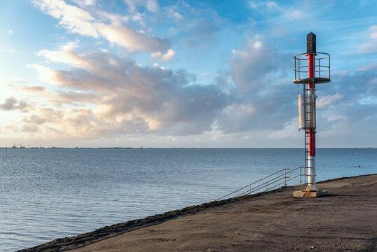 Beacon at the Dockkoogspitze by Husum
