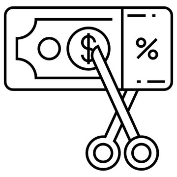 Income and Tax Portion Concept, Expense Percentage Vector Icon Design, Compulsory Financial charges and Taxation Symbol on White Background, Levy Sign, Taxes Deduction
