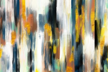 Abstract digital painting in acrylic style background illustration  - 393583652