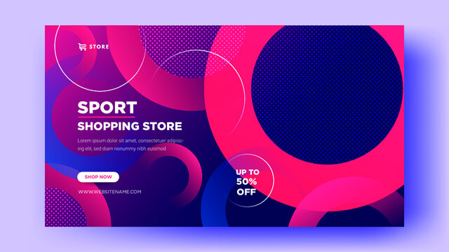 Web banner templates. sales of sports shoes with elegant designs Premium Vector