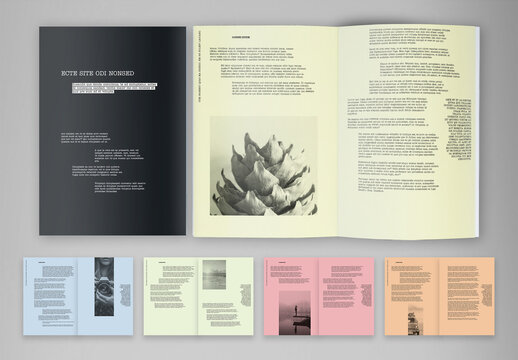 Art and Design Exhibition Brochure Layout