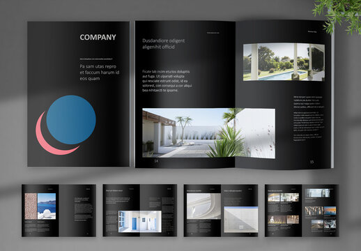 Black Digital Corporate Brochure Layout