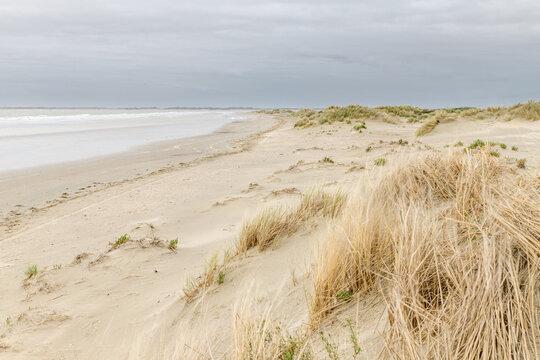 Dunes and beach at Kwade Hoek on the island Goeree-Overflakkee inThe Netherlands