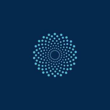 abstract mandala flower vector logo icon