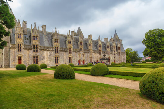 Josselin, France. The facade of the residential part of the castle