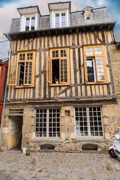 Rennes, France. Old half-timbered building