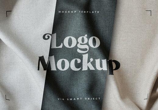 Fabric Print Effect Logo Mockup